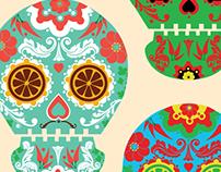 Día de los muertos skulls