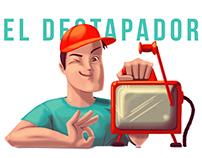 El destapador: ilustración de personaje