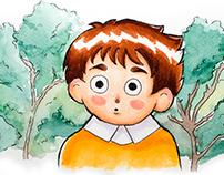 Martín y el Bosque, cuento ilustrado.