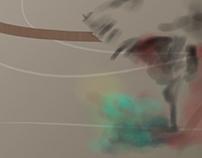 Teste Pintura com pincéis diversificados