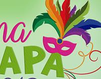 CarnaChapa - Logo, abadá e caneca