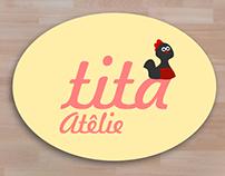 Tita atelie - art studio logo.