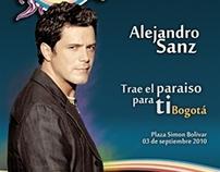Tours Paradise  Alejandro Sanz Concierto