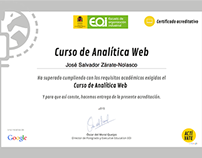 José Salvador Certificado de Analítica Web por EOI