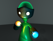 Cyble, the plasmabot - 3D character
