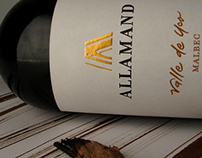 Allamand. Wine packaging design