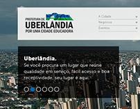 Layout Secretaria de Turismo Uberlândia/MG