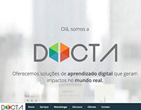 Site para agência de e-learning DOCTA