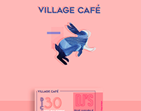 VILLAGE CAFÉ - FLYER - Harold Cardona