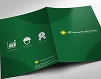 Folder criado para a empresa OZ Montagem industrial.