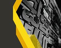 Projeto de capa para trabalho final de Tipografia
