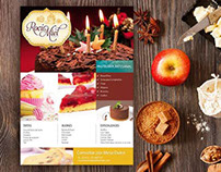 Diseño de Flyer para pastelería artesanal