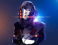 Ilustración 3D • Cyber Soldier