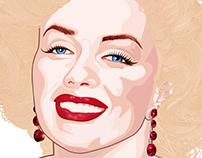 Ilustración Pop Art - Marilyn Monroe