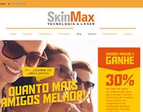 Criação do site Skinmax baseado em um layout PSD