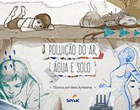Poluição do ar, água e solo