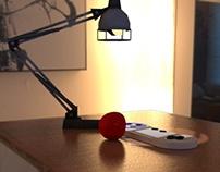 3D projeto / trabalho com iluminação