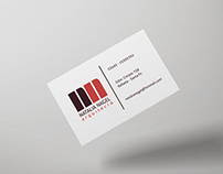 Personal cards for an architect
