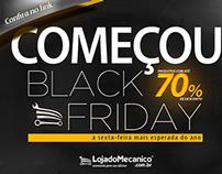 Campanha promocional Black Friday Loja do Mecanico