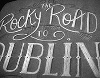 // DUBLIN lettering //