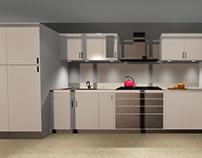 Diseño de cocina para apartamento pequeño