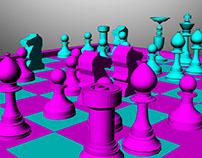 Modelado 3D MAYA Ajedrez