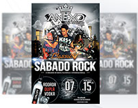Flyer - Sábado Rock