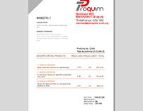 Invoice Proquim!