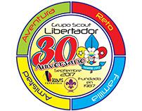 Insignia Aniversario Grupo Scout Libertador
