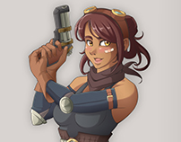 steampunk girl [COMMISSION]