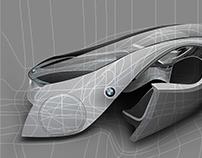 Concept Car Vector in Gradient Mesh
