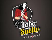 Logotipo para Lobo Suelto resto Bar