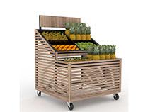 Mueble Fruver y puntera para Supermercado