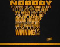 Rocky Balboa Typographic poster