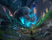 the caverns