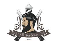 Logo e cartão de visita para keke barber shop