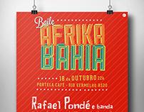 Baile Afrika Bahia - Cartazes