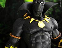 Fotos de Scale Statues de Black Panther y DareDevil