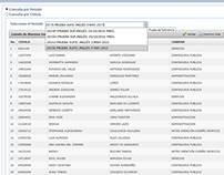 Sistema de registro de resultados de prueba de idioma