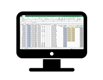 One of the excel projects resultant sheet