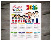 Calendário para Escola Faculdade da Criança