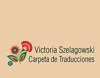 Carpeta de Traducciones - Victoria Szelaglowski