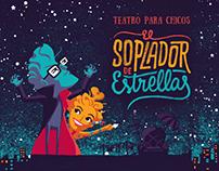 Afiche ilustrado para obra infantil