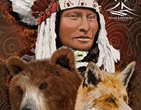 Ethnic portraiture design