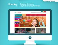 Diseño de marca, Portal web y Redes sociales