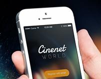 Cinenet World App UI