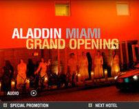 Aladdin Hotel Flash Website