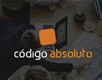 Interface website for Código Absoluto.