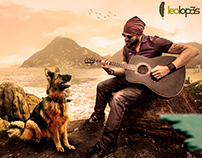 A Guitar and a Dog