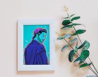 "Illustration series ""Flower Boys"""